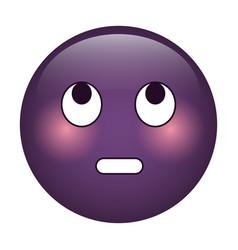 eye rolling emoticon funny icon vector image