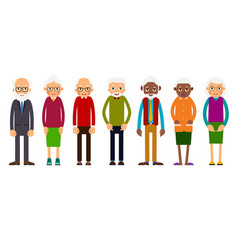 group older people vector image