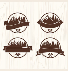 set of logos of the camp vector image vector image