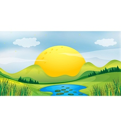 Sunset view vector image