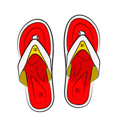 vietnamese slippers on a white background vector image