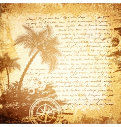 Vintage Travel Letter vector image