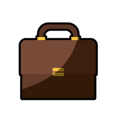 briefcase business paper shadow vector image vector image