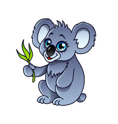 cartoon koala isolated vector image vector image