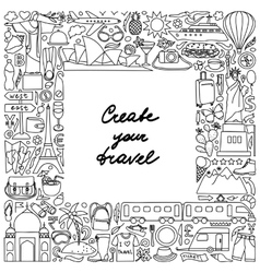 Create your travel Frame vector image vector image