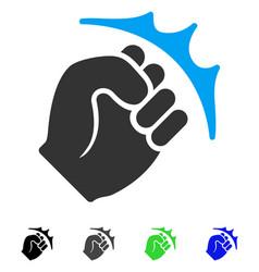 fist strike flat icon vector image