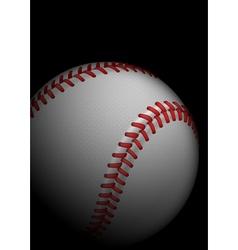 High detailed baseball vector image