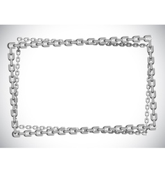 Metal chain frame vector image vector image