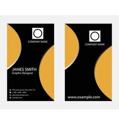 Vertical business card vector