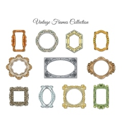 Vintage classic frames vector image vector image