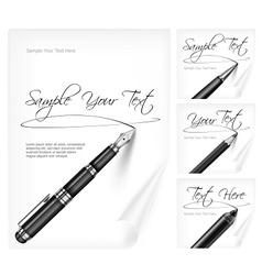 Writing tools and paper sheet vector image vector image