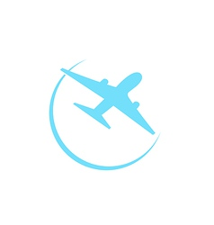 Airplane symbol isolated on white background vector image vector image
