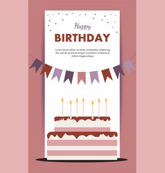 happy birthday card birthday party elements isolat vector image vector image
