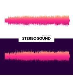 HQ sound waves Music waveform pink vector image