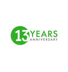 13 years logo vector image