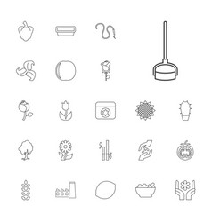 22 plant icons vector