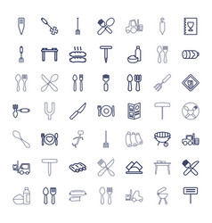 49 fork icons vector