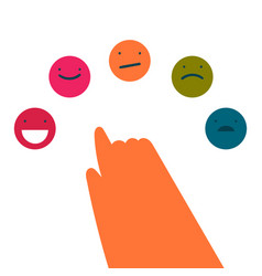 A person chooses a positive emotion vector