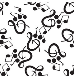 A wonderful musical pattern on a white background vector