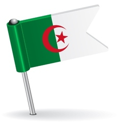 Algerian pin icon flag vector