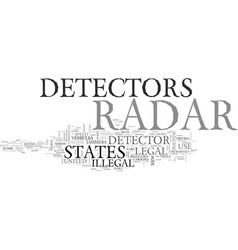 Are radar detectors legal in the us and in which vector