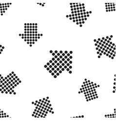 arrow icon seamless pattern background business vector image