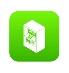 atm icon green vector image