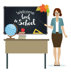 Back to school teacher vector