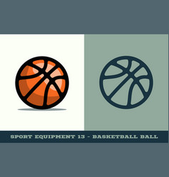basketball ball icon game equipment professional vector image