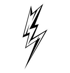 Black emblem of lightning vector