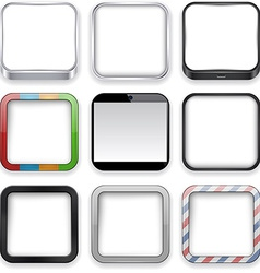 Blank app icons vector image