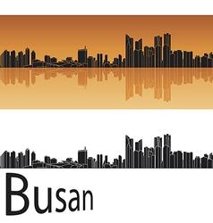 Busan skyline in orange background vector image