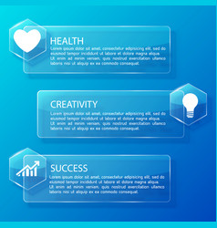 business infographic glass horizontal banners vector image