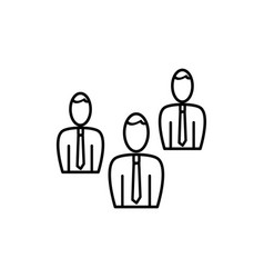 businessmen team icon vector image