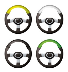 car steering wheels vector image