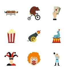 Chapiteau icons set flat style vector