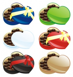 Chocolate boxes vector