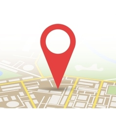 City Map With Marker Icon vector image
