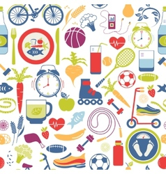 Colorful Healthy Lifestyle Themed Graphics vector