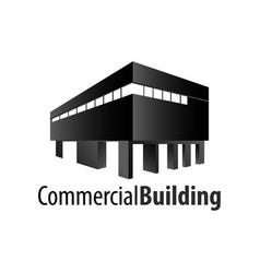 commercial building logo concept design symbol vector image