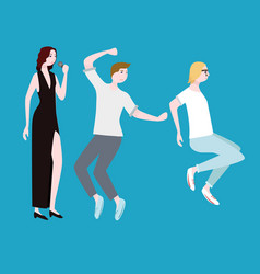 concert people flat composition vector image