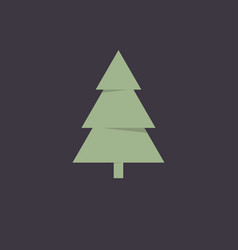 cristmas tree icon vector image
