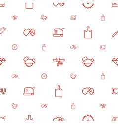 cutting icons pattern seamless white background vector image