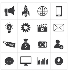 digital marketing icon vector image