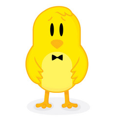 elegant chicken wearing a bow tie vector image