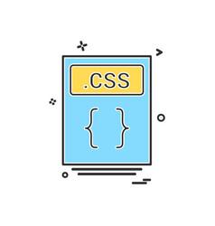file files css icon design vector image