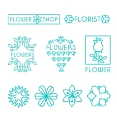 Floral and Gardening Logos vector image