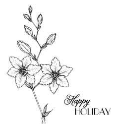 Flowers in a hand drawn style vector image vector image