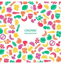 Fruit and vegetables background vector image