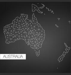 geometric australia continent dark version clean vector image